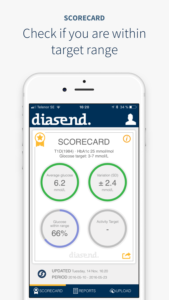 diasend Screenshot