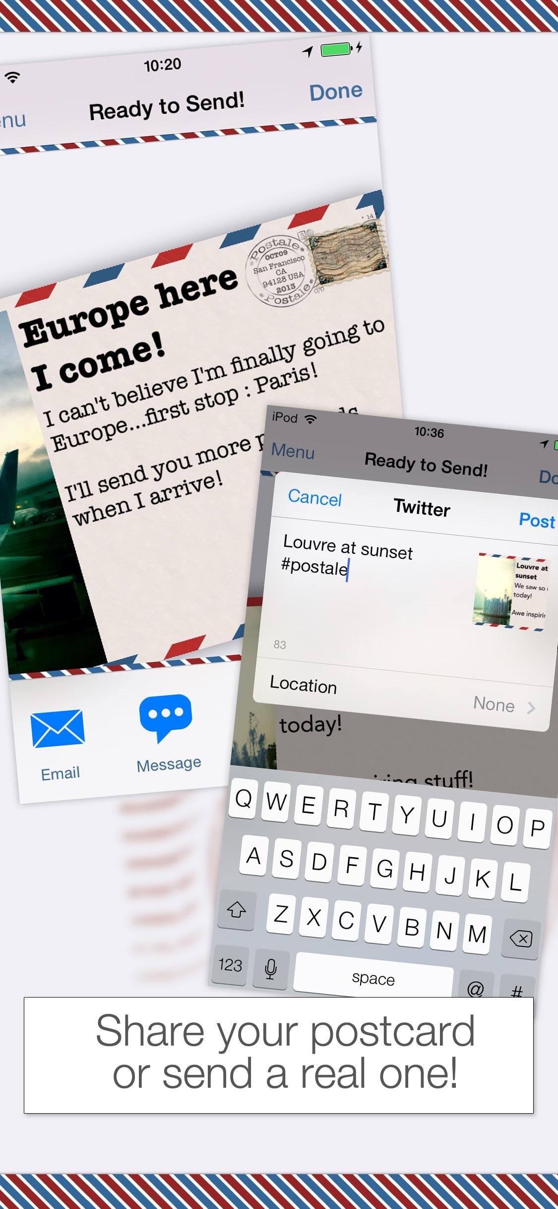 Screenshot do app Postale