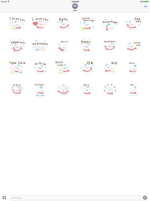 Cute Snowman Emoji Sticker screenshot 7