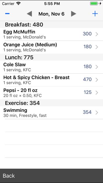 Restaurant Calorie Counter review screenshots