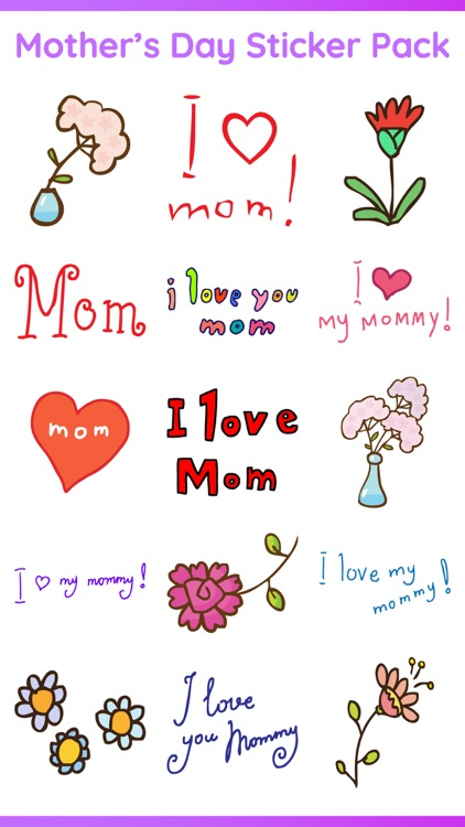 Happy Mother's Day Sticker IM screenshot-0