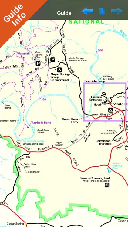 Mammoth Cave National park gps and outdoor map screenshot-3