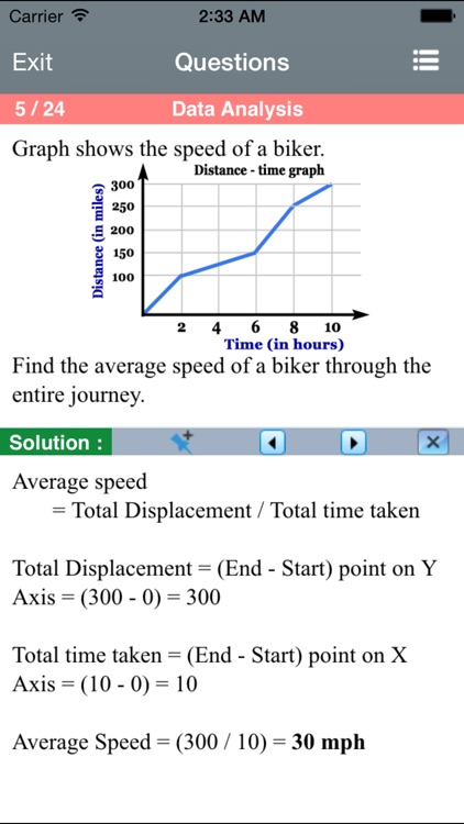 Statistics for the ACT ® Math screenshot-3