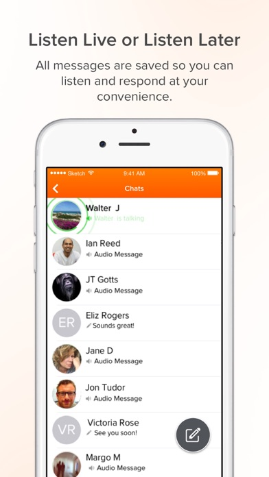 Voxer Walkie Talkie Messenger app image