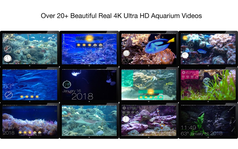 Aquarium 4K - Live Wallpaper Screenshots
