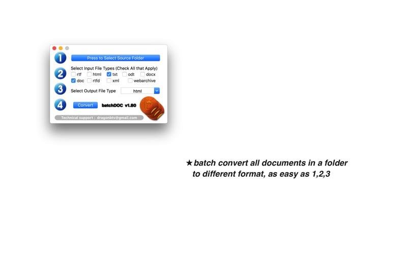 文件转换 batchDOC for Mac