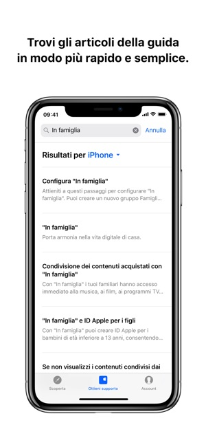 Supporto Apple Screenshot