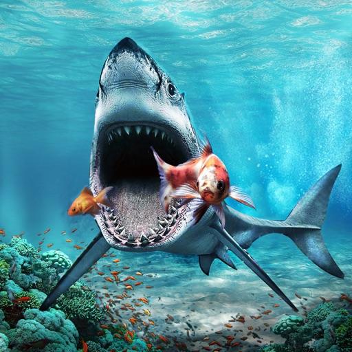 Большой Белая акула Атака Сим