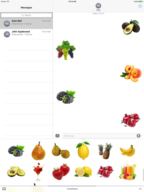 Best Fruits for iMessage screenshot 4