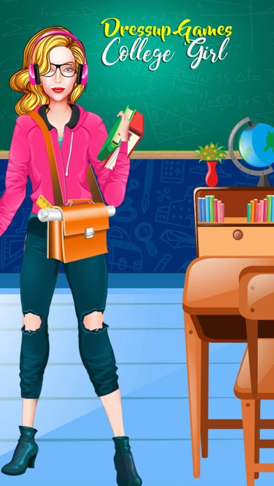 Dress Up Games College Girl screenshot one