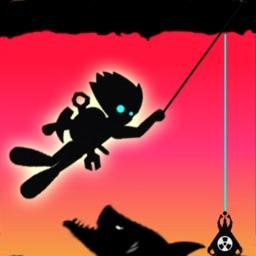 Stickman swing : Rope Swing