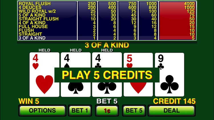 Video Poker ⋆ Deuces Wild screenshot-4