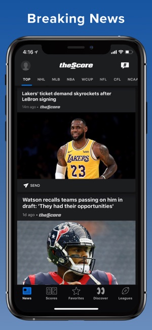Thescore Sports News Scores On The App Store