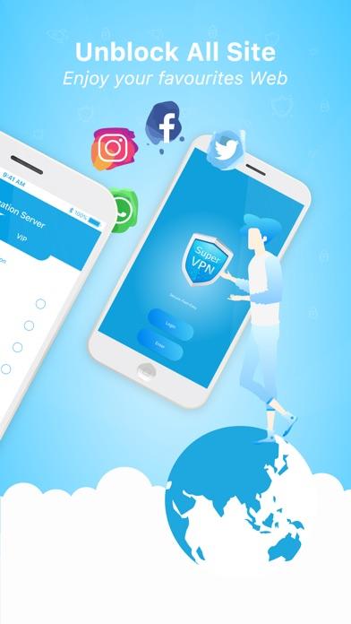 Screenshot for Super VPN - SuperVPN Master in Jordan App Store