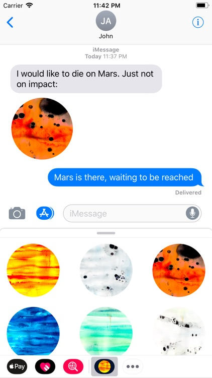 Abstracts Planetary Stickers screenshot-3