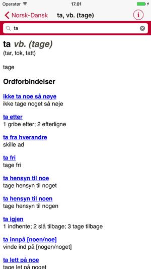 norsk dansk ordbog online