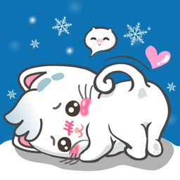Snowy Cat Sticker