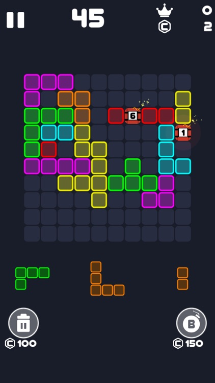 Neon Block Puzzle : Fill Board screenshot-6