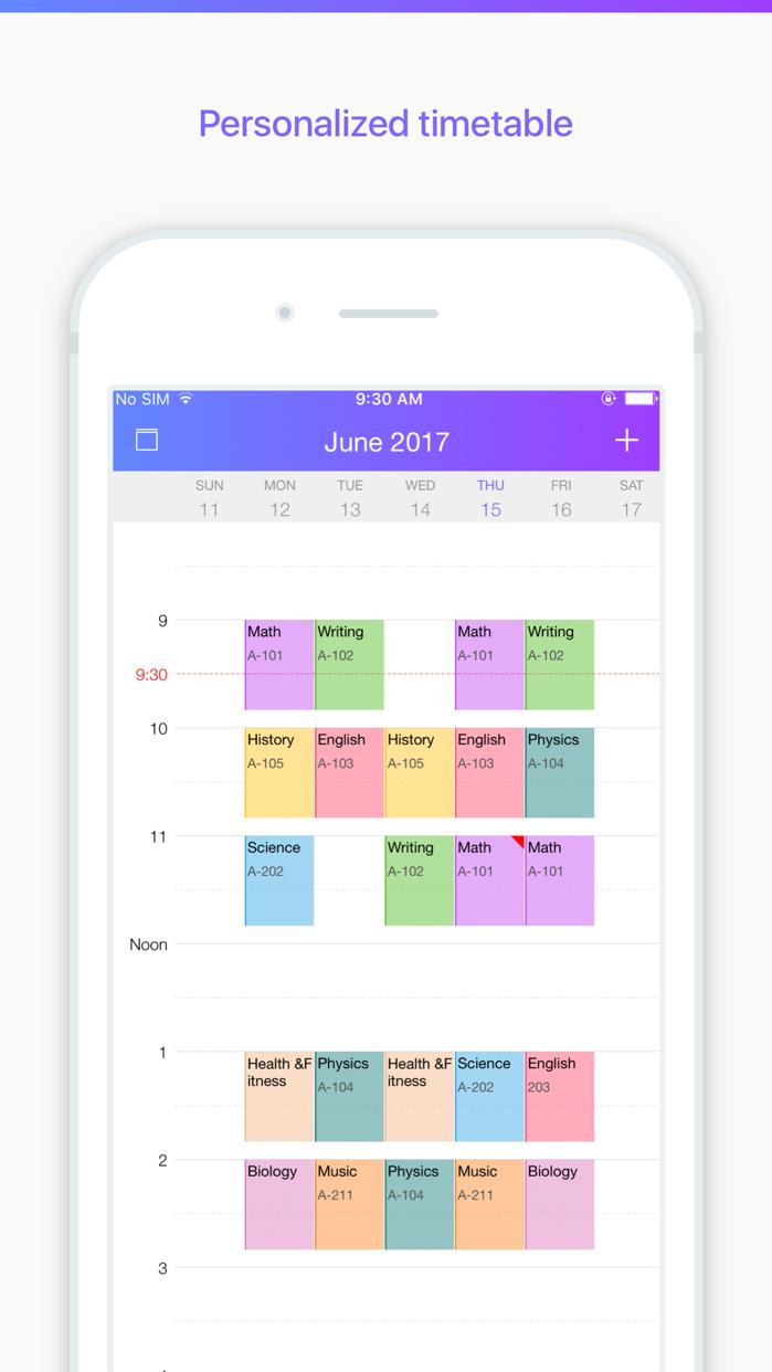 Pocket Schedule Planner Screenshot