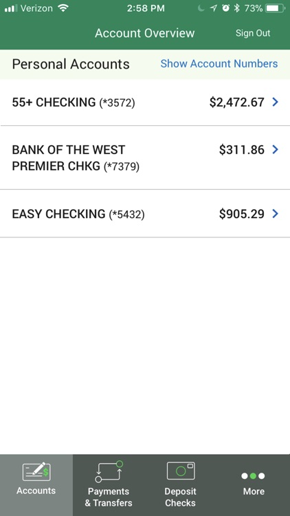 Bank of the West Mobile App