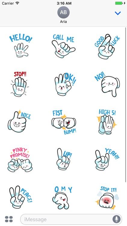HandMoji Animated Hand Sticker screenshot-3