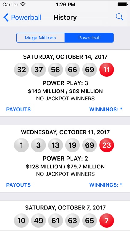Mega Millions + Powerball screenshot-2