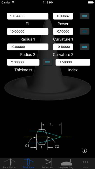 OpticsCalc screenshot two