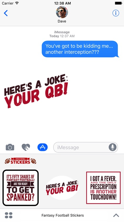 Fantasy Football Stickers for iMessage