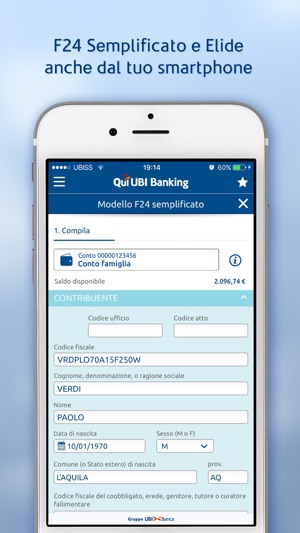 Qui ubi banking on the app store for Codice identificativo f24 elide