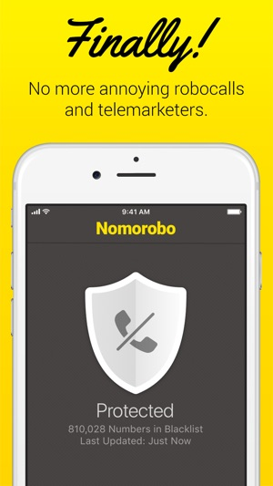 Nomorobo Robocall Blocking Screenshot