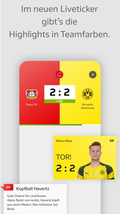 Screenshot for BUNDESLIGA - Offizielle App in Germany App Store