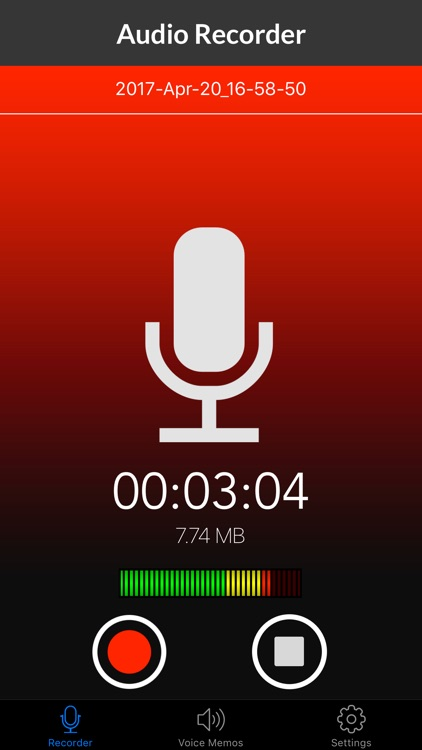 Voice Recorder & Audio Memo + screenshot-0
