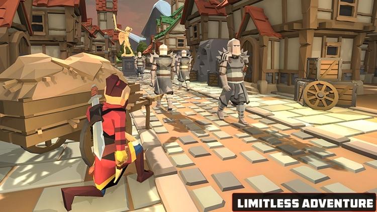 Blocky Shadow Ninja Kungfu War screenshot-3