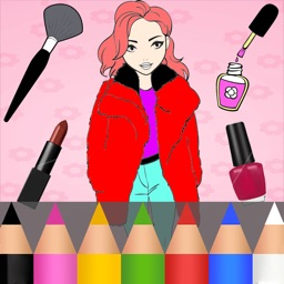 Beauty & Fashion Coloring Book