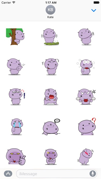 Chubby Hippopotamus Sticker screenshot 1