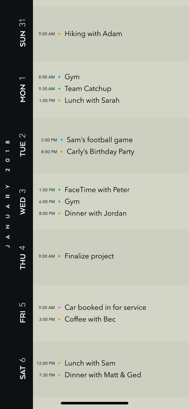 Timepage Screenshot
