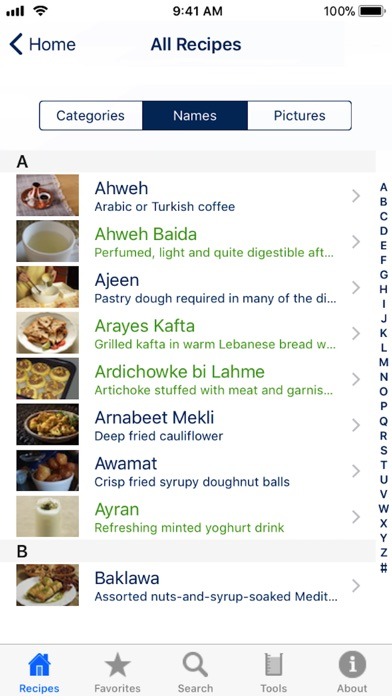 Screenshot for 100 Lebanese Recipes in Italy App Store