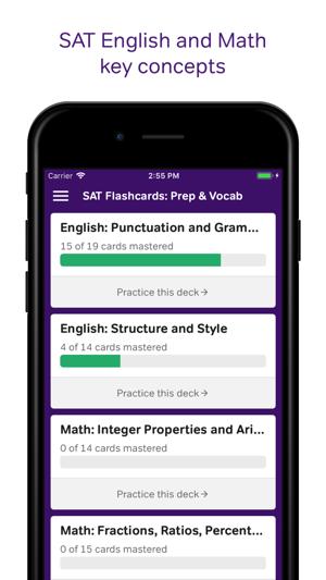 SAT Flashcards: Prep & Vocab on the App Store