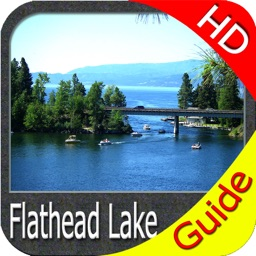 Flathead lake Montana charts HD GPS fishing maps