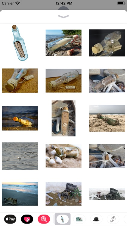 Message In A Bottle Stickers