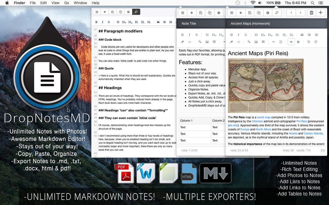 DropNotesMD - Markdown Text Editor & Note Taker - Online