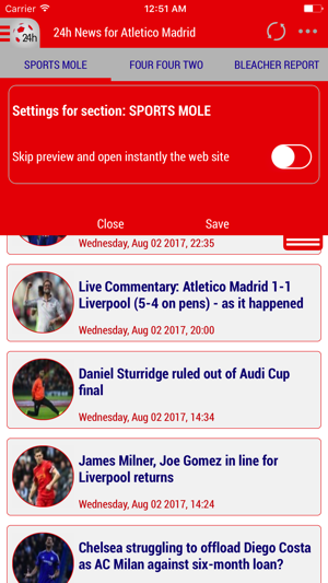 24h News for Atlético Madrid on the App Store