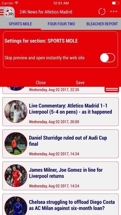 24h News for Atlético Madrid