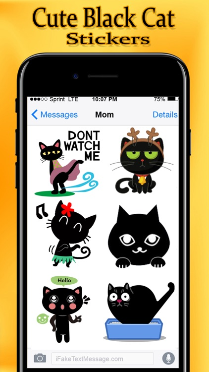 Cute Black Cat Stickers Pack