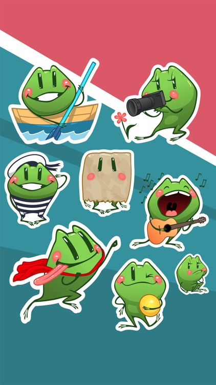 Travel Frog - iMessage Sticker screenshot-3