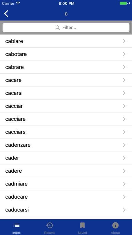 Italian Verbs Dictionary