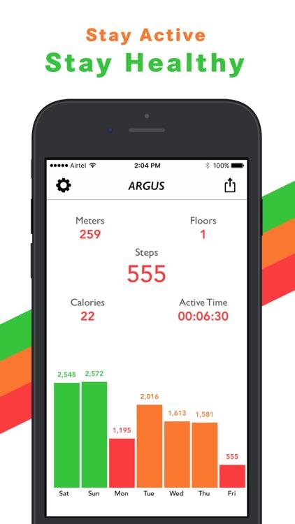 Argus Pedometer & Step Counter screenshot-0
