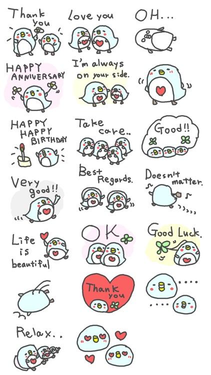 Penguin Happy Happy Stickers!