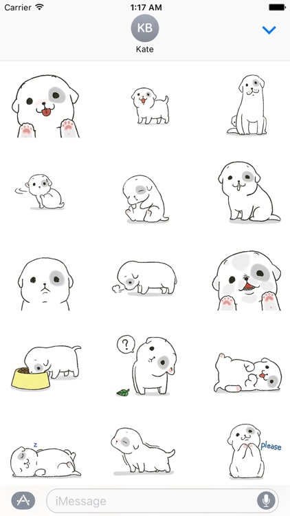 Snowy The Cute Dog Stickers
