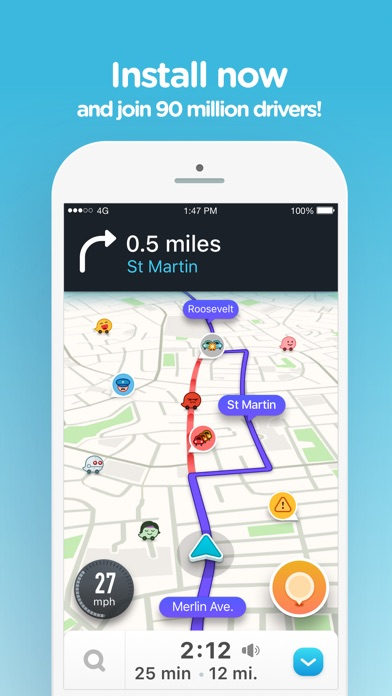 Screenshot for Waze - 社群導航、地圖與交通 in Taiwan App Store